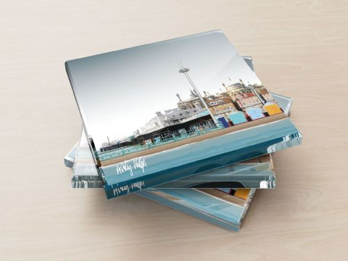 Brighton Skyline Ultra Marine - Glass Coasters